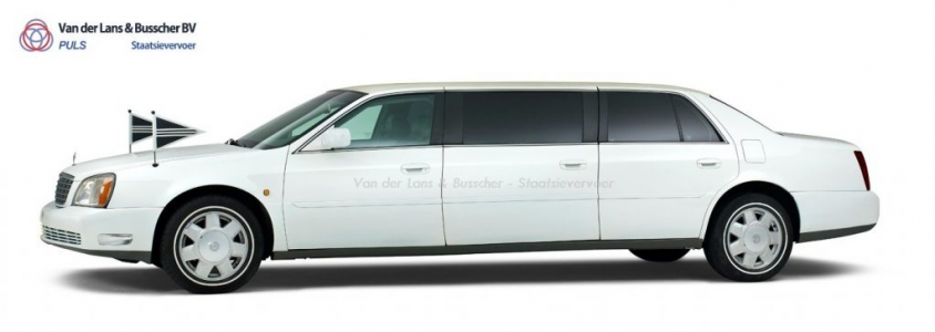 Cadillac wit - 7 Persoons Volgauto