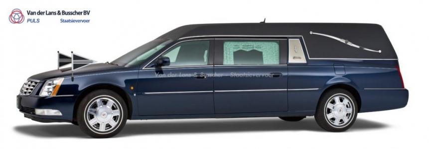 Cadillac blauw - Landaulet Rouwauto