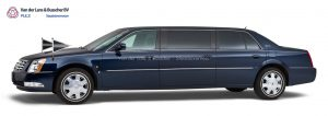 Cadillac blauw - 7 Persoons Volgauto