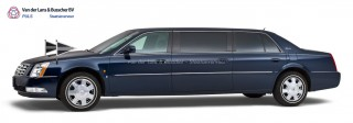 Cadillac blauw – 7 Persoons Volgauto