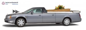 Cadillac grijs - Open Rouwauto/Bloemenauto
