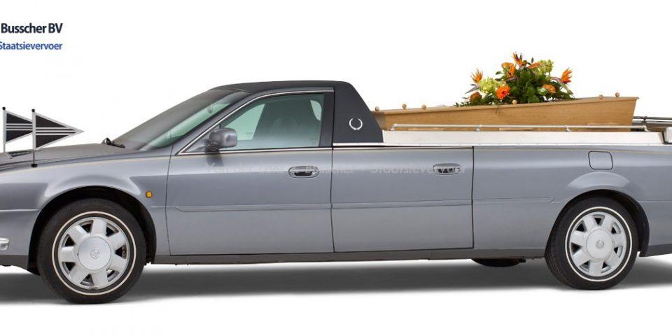 Cadillac grijs – Open Rouwauto/Bloemenauto