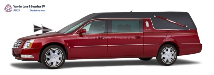Cadillac rood - Landaulet Rouwauto
