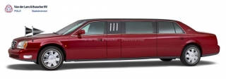 Cadillac rood - 7 Persoons Volgauto