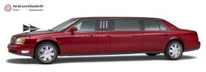 Cadillac rood - 7 Persoons Volgauto