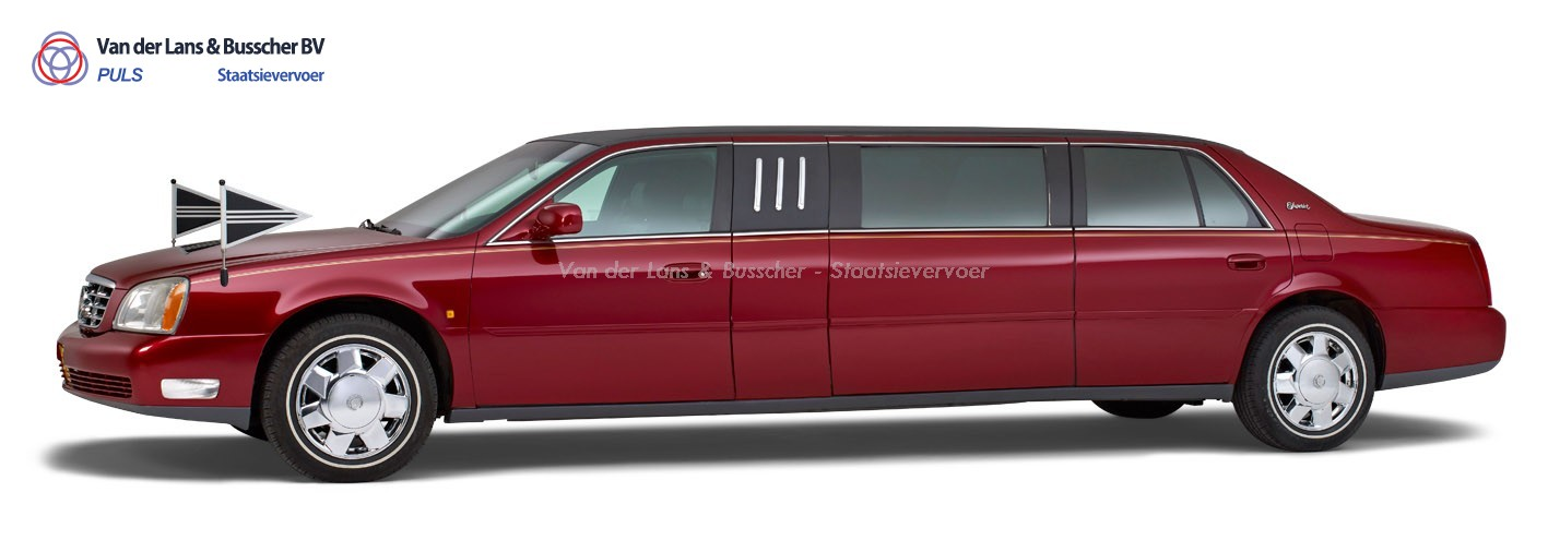 Cadillac rood – 7 Persoons Volgauto