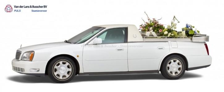 Cadillac wit - Open Bloemenauto