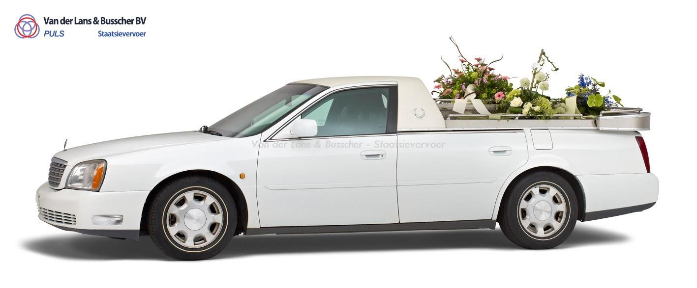 Cadillac wit – Open Bloemenauto