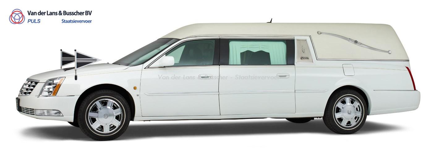 Cadillac wit - Landaulet Rouwauto