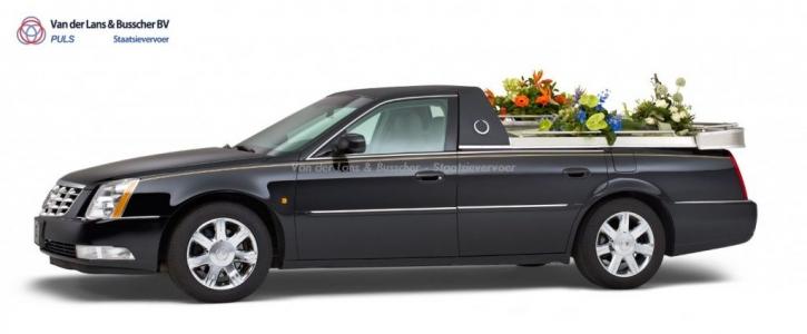 Cadillac zwart - Open Bloemenauto