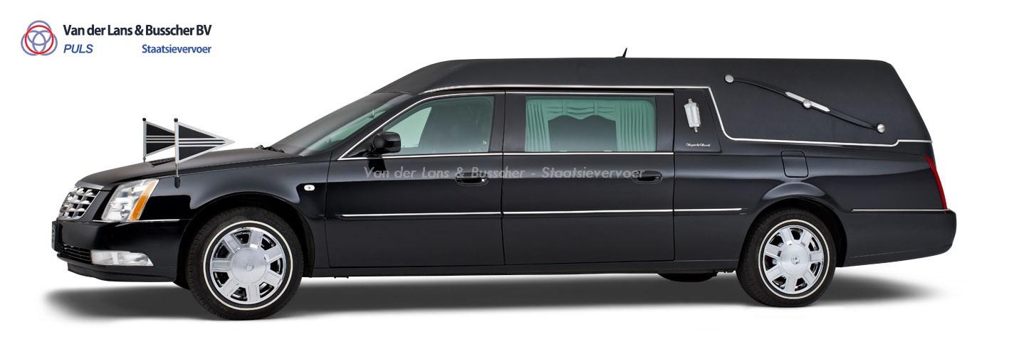 Cadillac zwart - Landaulet Rouwauto