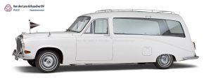 Witte Daimler Rouwauto uit 1976