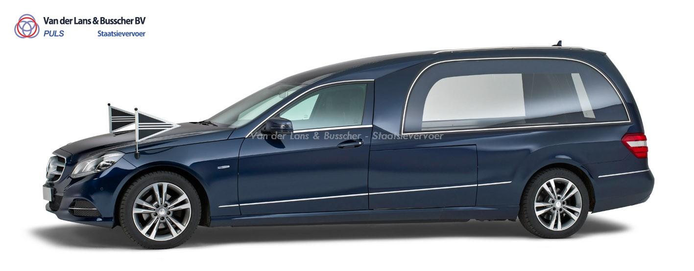 Mercedes blauw – Glas Rouwauto