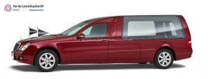Mercedes rood - Glas Rouwauto