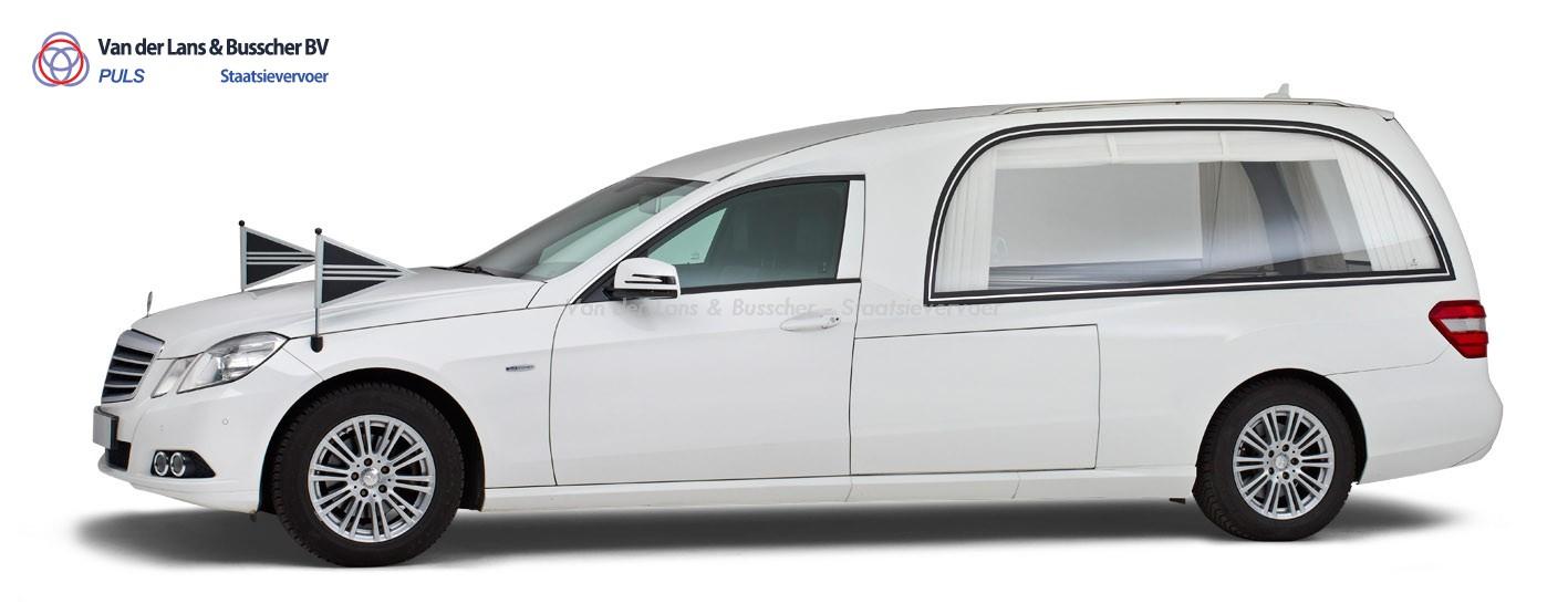 Mercedes grijs - Glas Rouwauto