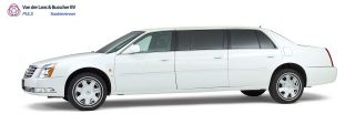 Cadillac wit – 7 Persoons Volgauto