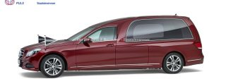 Mercedes rood – Glas Rouwauto