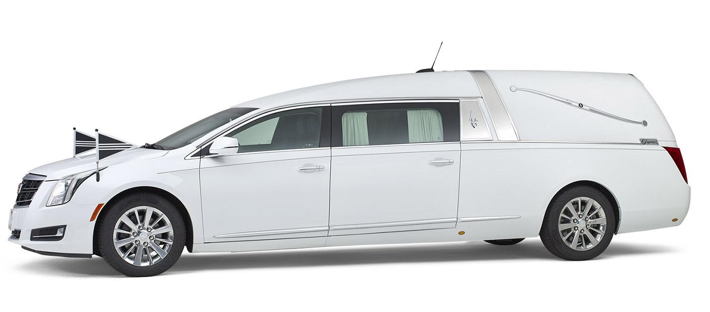 Cadillac wit – Landaulet Rouwauto
