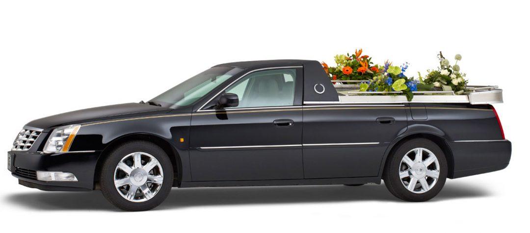 Cadillac zwart – Open Bloemenauto