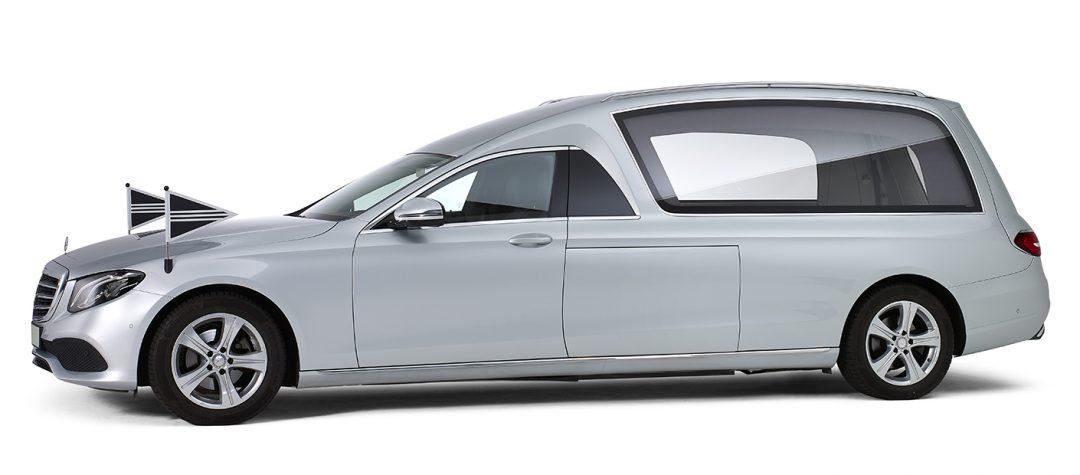 Mercedes-grijs-glas-rouwauto