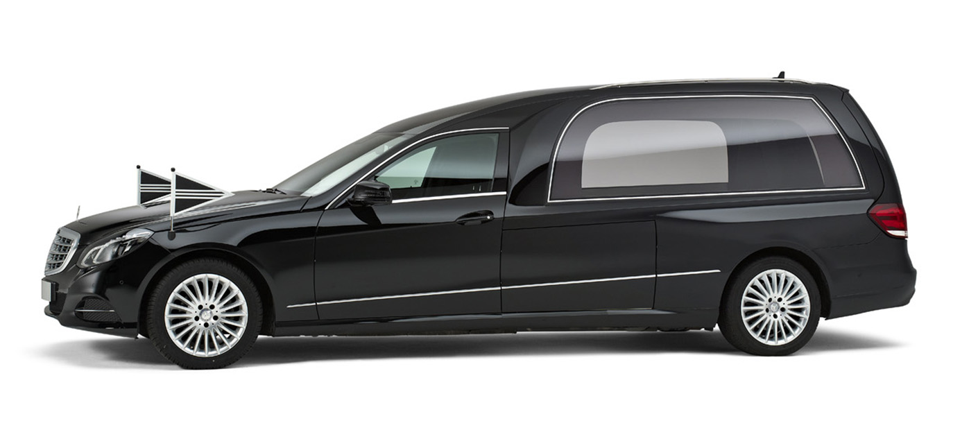 Mercedes zwart – Glas Rouwauto