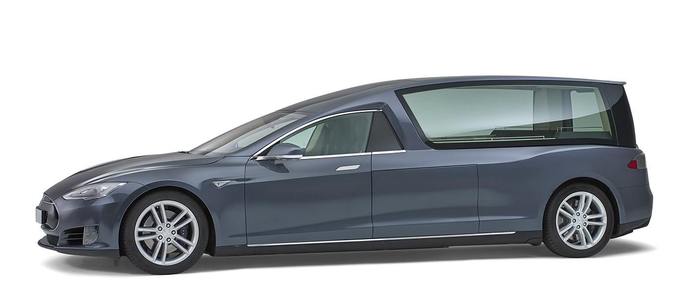 Tesla Elektrische Glas Rouwauto