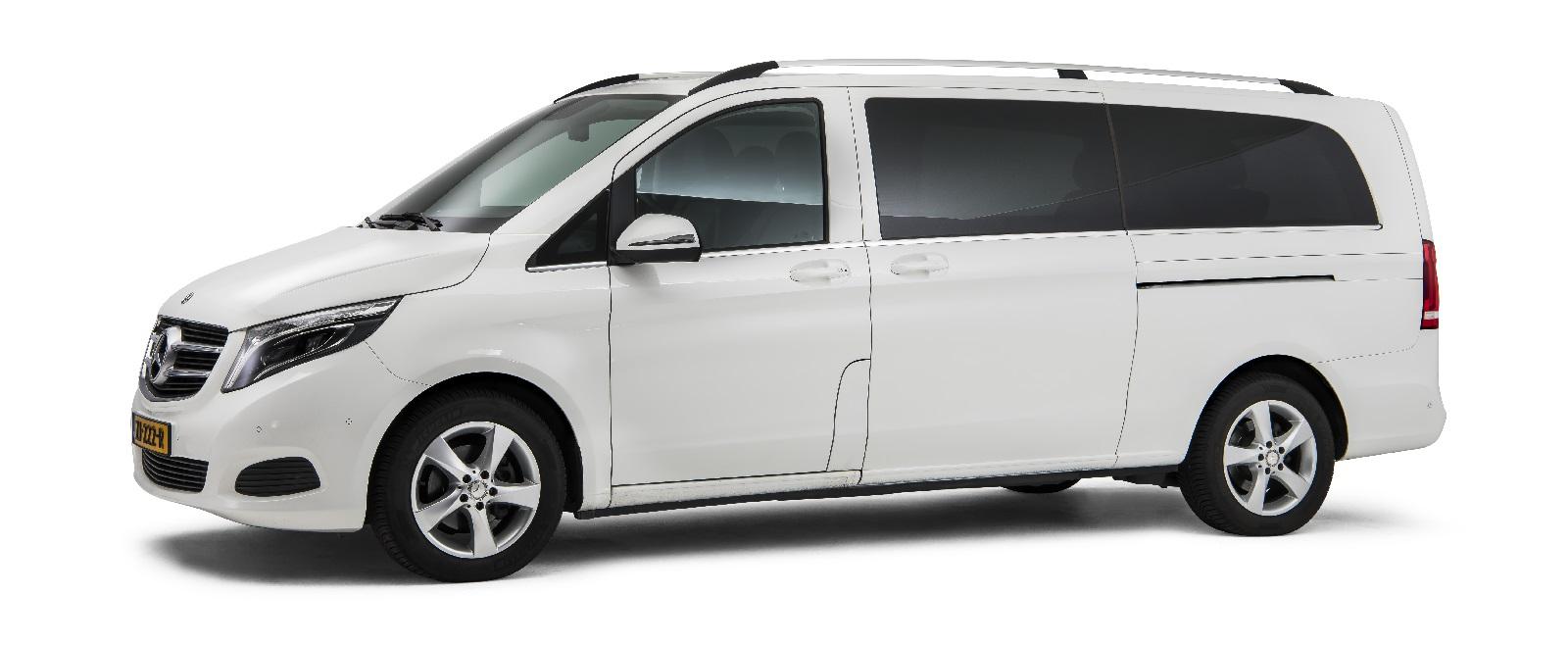 Mercedes wit – 7 Persoons Funeral Comfort Van