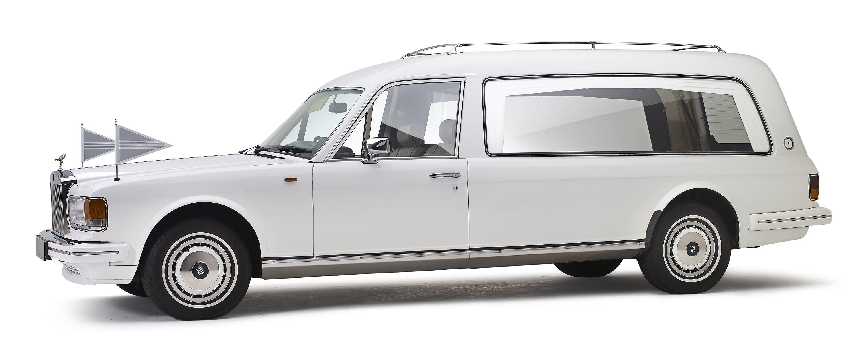Rolls Royce Rouwauto Wit