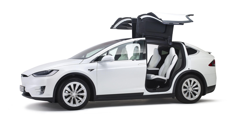 Tesla Model X Volgauto Wit 6 persoons